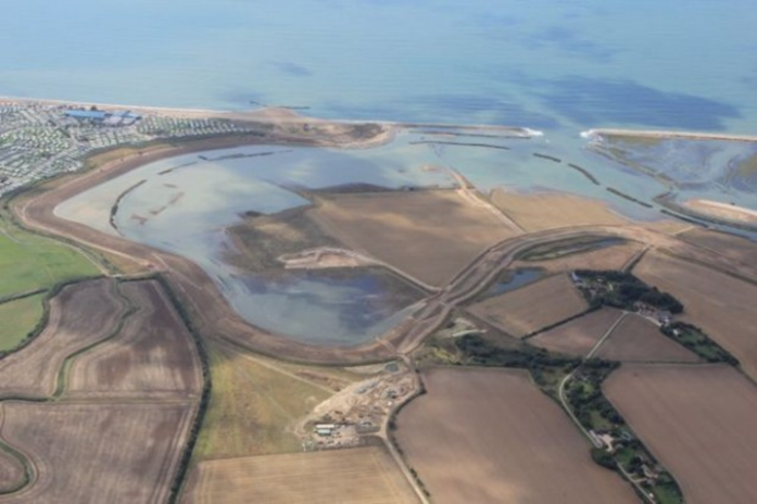 Photo showing Managed Realignment scheme at Medmerry.